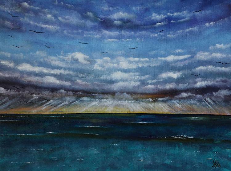 Meer, Seelandschaft, See, Malerei, Sehnsucht