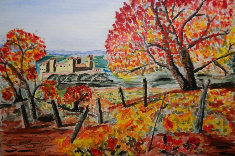 Bunt, Herbst, Aquarell