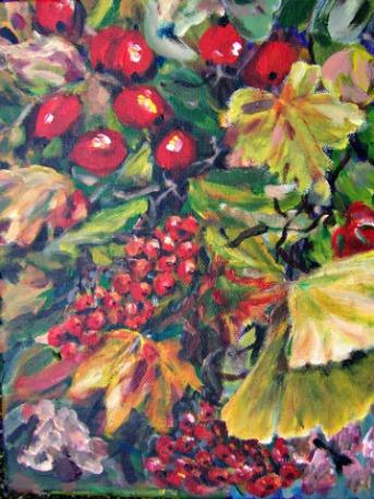 Rot, Gelb, Herbst, Bunt, Grün, Malerei