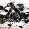 Tiere, Schwarz, Weiß, Druckgrafik