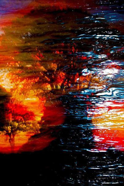 Sonne, Eichen, Erde, Äste, Feuer, Stein