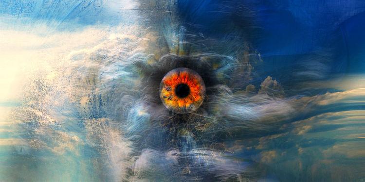 Augen, Sonne, Iris, Licht, Pupille, Wolken