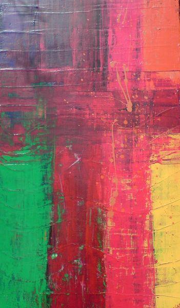 Abstrakt, Grün, Bunt, Leben, Farben, Rot
