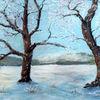 Baum, Landschaft, Winter, Kalt