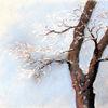 Winter, Pastellmalerei, Rauhreif, Baum