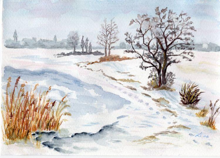 Winter, Schilf, Leipzig, Schnee, Baum, Landschaft