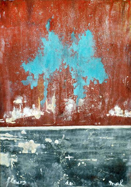 Weiß, Wand, Türkis, Rot, Schwarz, Malerei