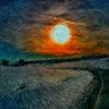 Sonnenuntergang, Wind, Impressionismus, Digitale kunst