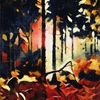 Herbst, Landschaft, Wald, Licht