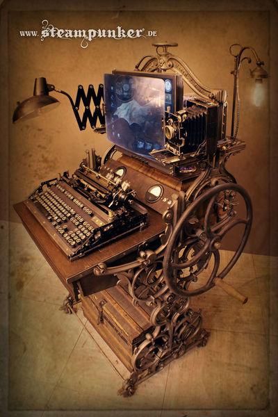 Retrofuturismus, Steampunk computer, Alexander schlesier, Design, Steampunk, Gründerzeit