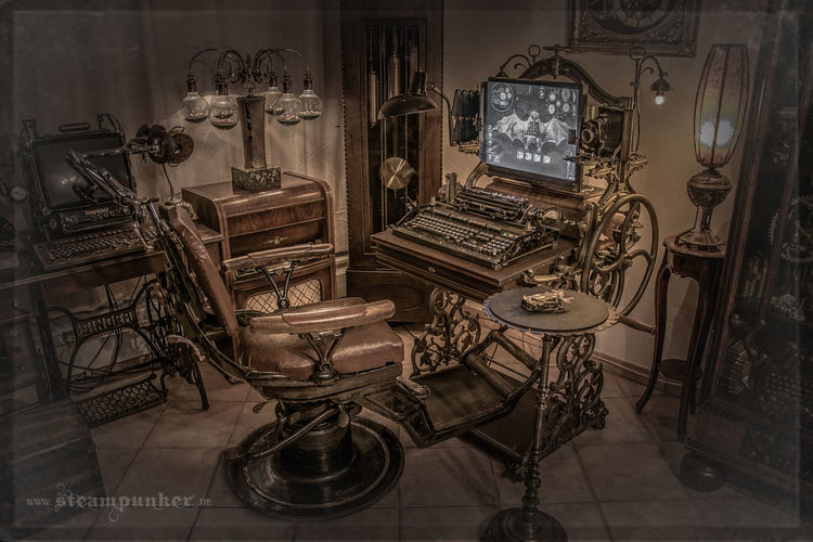 Zimmer, Jues verne, Modding, Metall, Amt, Retro