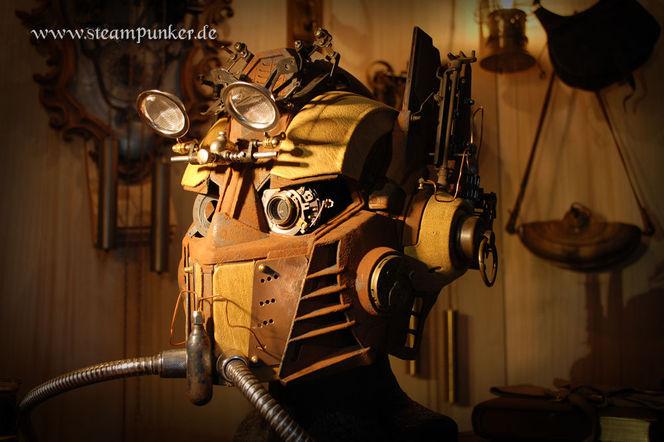 Steampunk, Clockworker, Maske, Schlesier, Outfit, Kostüm