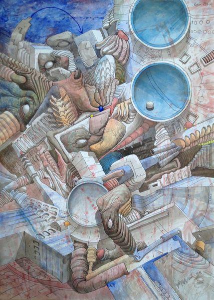 Mauer, Malerei, Landschaft,