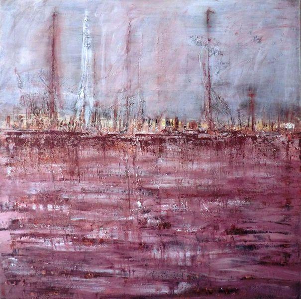Abstrakt, Eindrücken, Abstrakte landschaft, Maritim, Malerei,