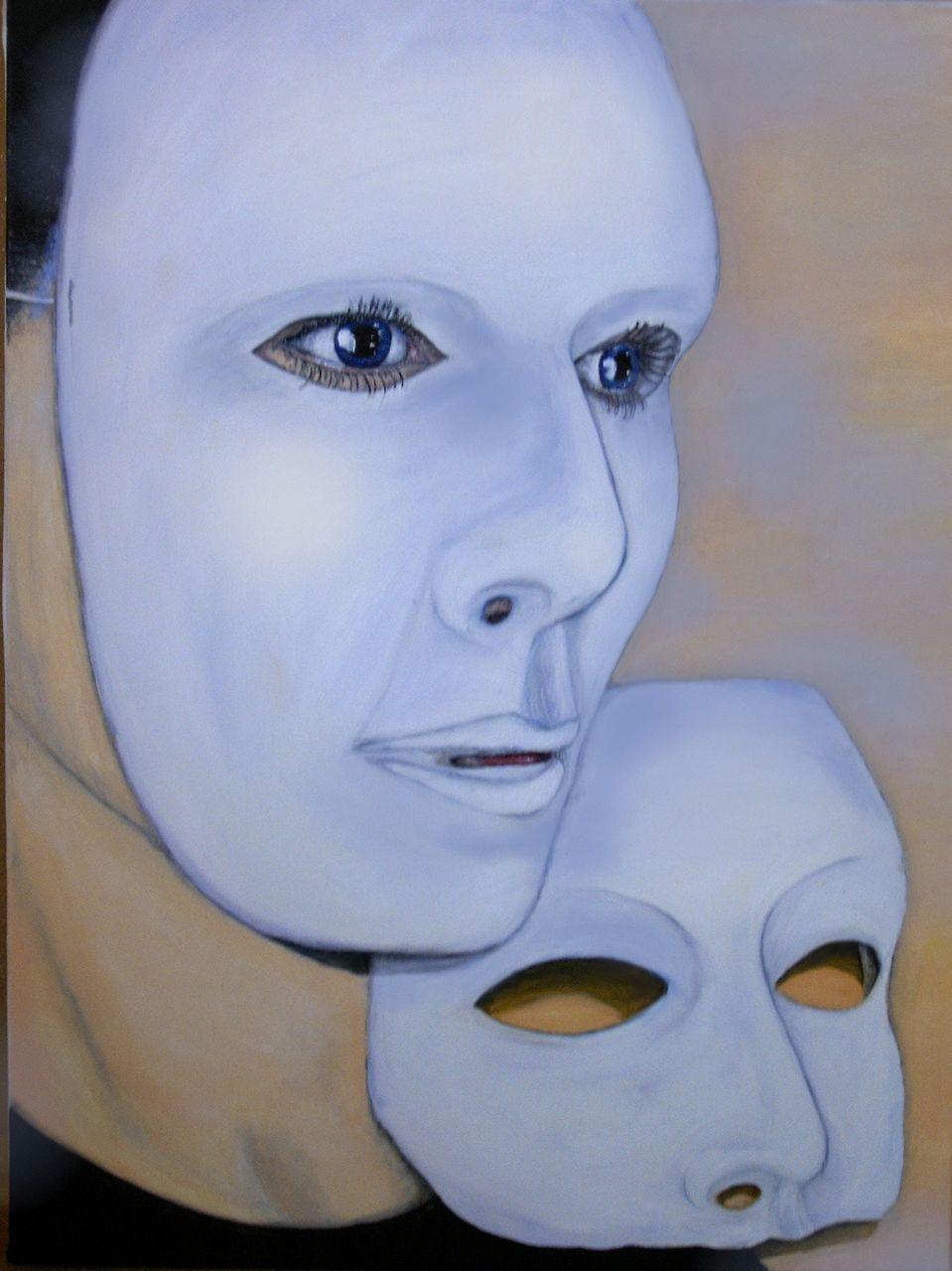 bild maske verschlie en malerei menschen von u ziethen bei kunstnet. Black Bedroom Furniture Sets. Home Design Ideas
