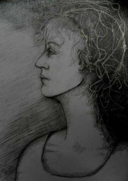 Knotenimkopf, Schwarz, Weiß, Schau, Zeichnungen