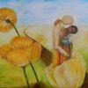 Frau, Mann, Blumen, Geburt neuewelt