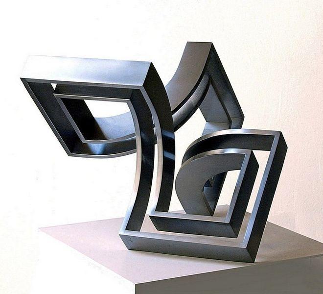 Entfaltung, Skulptur, Dimension, Metall, Stahlskulptur, Bewegung