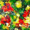 Blumen, Licht, Spachteltechnik, Natur