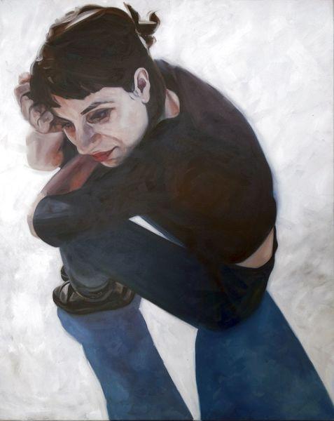 Mädchen, Frau, Portrait, Malerei