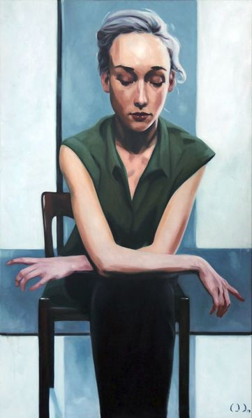 Teenager, Modell, Realismus, Malerei