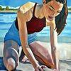 Sommer, Strand, Licht, Malerei