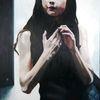 Teenager, Darkroom, Mädchen, Malerei
