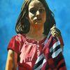 Sommer, Mädchen, Licht, Malerei