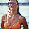 Wasser, Mädchen, Licht, Malerei
