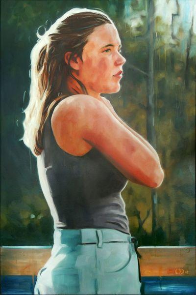 Portrait, Haut, Licht, Malerei