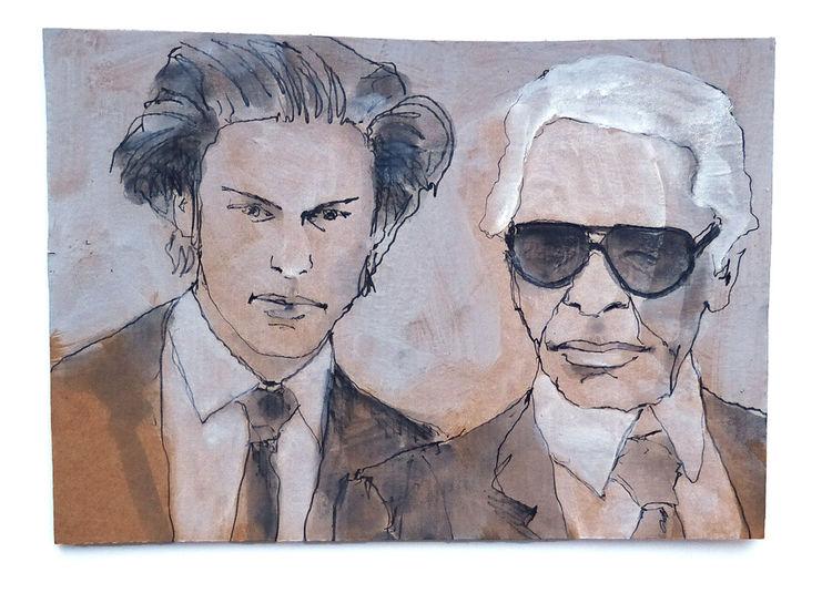 Tod, Karl lagerfeld, Modedesigner, Zeichnungen, Natur, Rechts