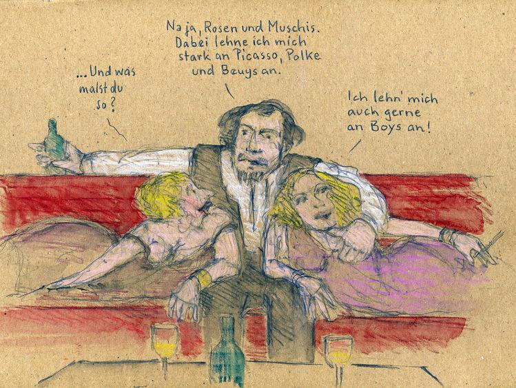 Beuys, Polke, Picasso, Malen, Zeichnungen, Gleichgewicht
