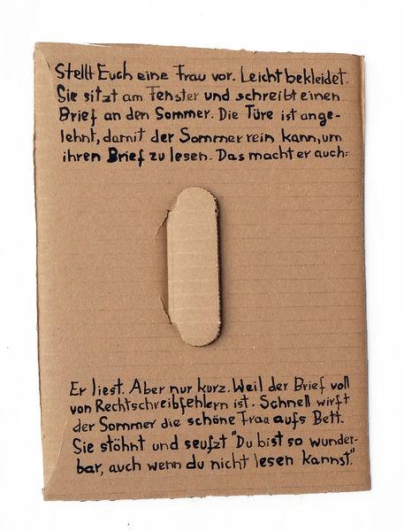 Rechtsschreibschwäche, Frau, Bett, Sommer, Liebeserklärung, Brief