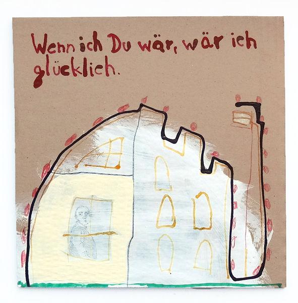 Palast, Glück, Fenster, Malerei, Burg
