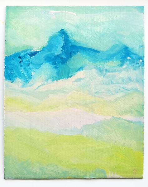 Berge, Natur, Harry schlüther, Malerei