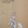Frau, Pudel, Brief, Zeichnungen
