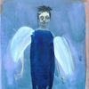 Engel, Schutz, Fluss, Malerei
