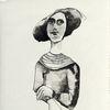 Frau, Jung, Portrait, Zeichnungen