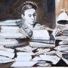 Schreibtisch, Literatur, Buch, Malerei
