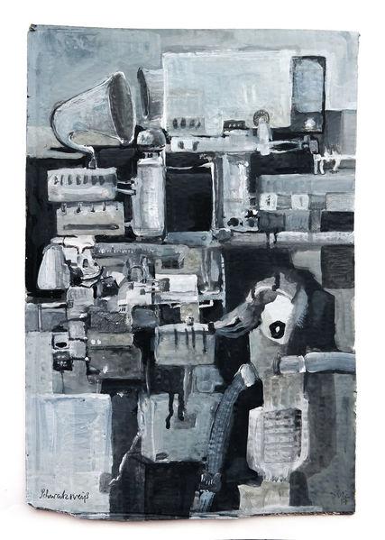 Schwarz weiß, Rede, Maschine, Erzählen, Schwatzen, Malerei