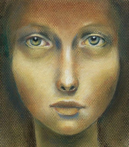 Augen, Mädchen, Gesicht, Malerei