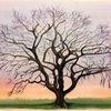 Baum, Winter, Äste, Aquarell