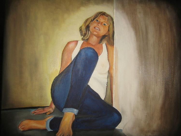 Ölmalerei, Frau, Malerei