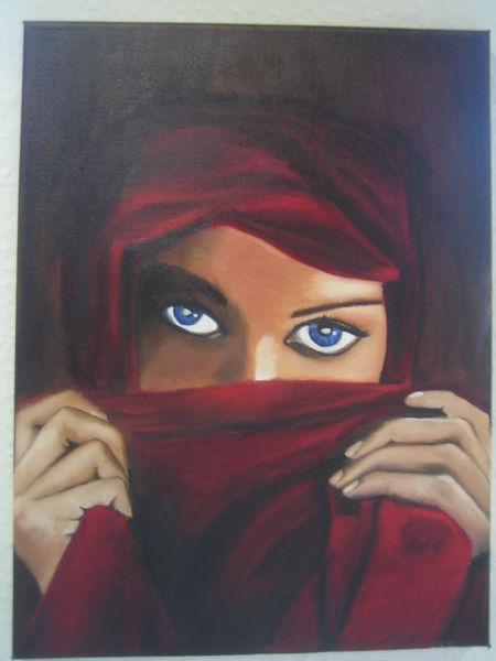 Frau, Ölmalerei, Schleier, Malerei, Menschen