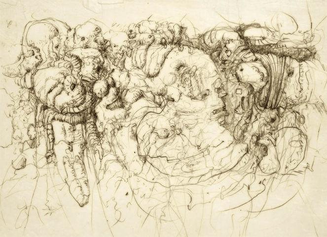 Bleistiftzeichnung, Naur, Tremolo, Aufgeregt, Malerei, Natur