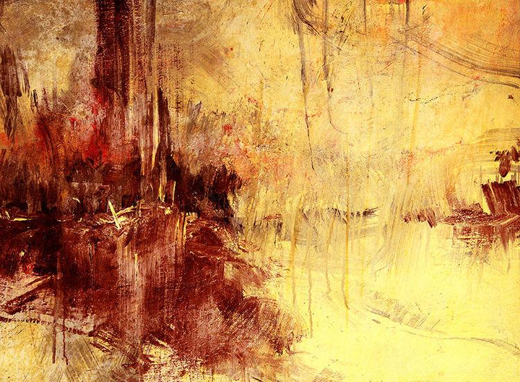 Abstrakt, Landschaft, Acrylmalerei, Malerei