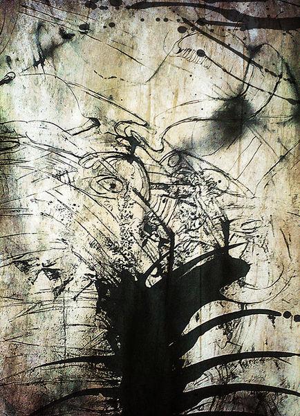 Amorph, Tusche, Spontan, Zeichnung, Acrylmalerei, Abstrakt