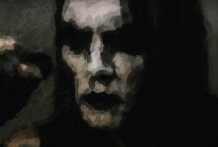 Mixed media, Black metal, Gesicht, Death metal, Dunkel, Malerei