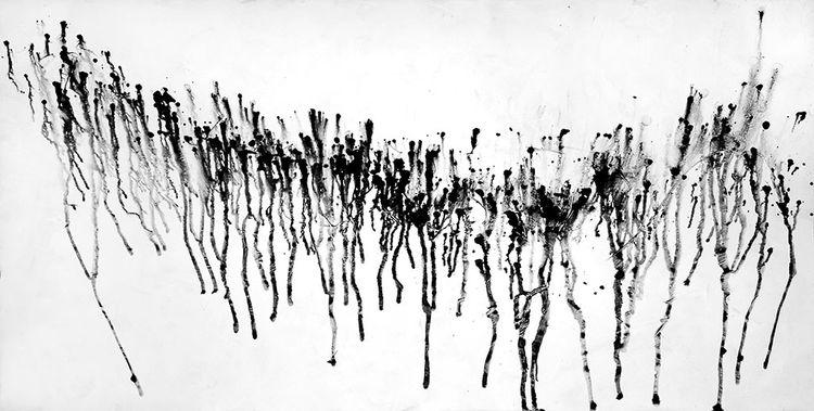 Schwarz weiß, Parade, Acrylmalerei, Abstrakt, Malerei