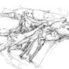Anfall, Zeichnung, Abstrakt, Bleistiftzeichnung